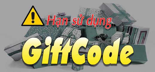 Thông báo: Hạn cung cấp và sử dụng GiftCode